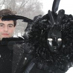 with the Winter Raven mask